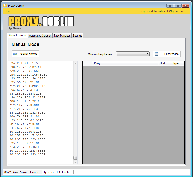 Give you 1000 Proxy list harvest with proxy goblin