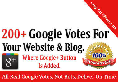 get you 200 google PLUS +1 one votes to seo fastest up your high rank on google