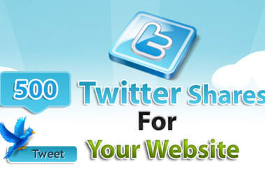 add 500 twitter share votes clicks to your website to rock up your SEO