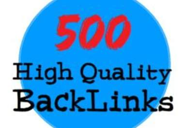 Create 500 High PR Quality Strong Backlinks