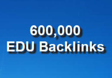 give you Updated more than 600,000 Edu backlinks Plus Bonus 10,000 more Edu and Gov back link urls