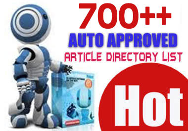 give you my PRIVATE LIST of 700 auto approved article directories
