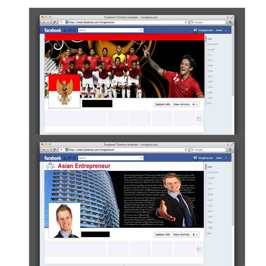 design attractive facebook timeline fan page only
