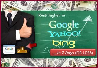 teach you how to rank websites in the FIRST page of google in only 7 days or less