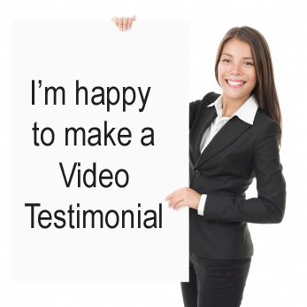 create a video positively reviewing your site or business