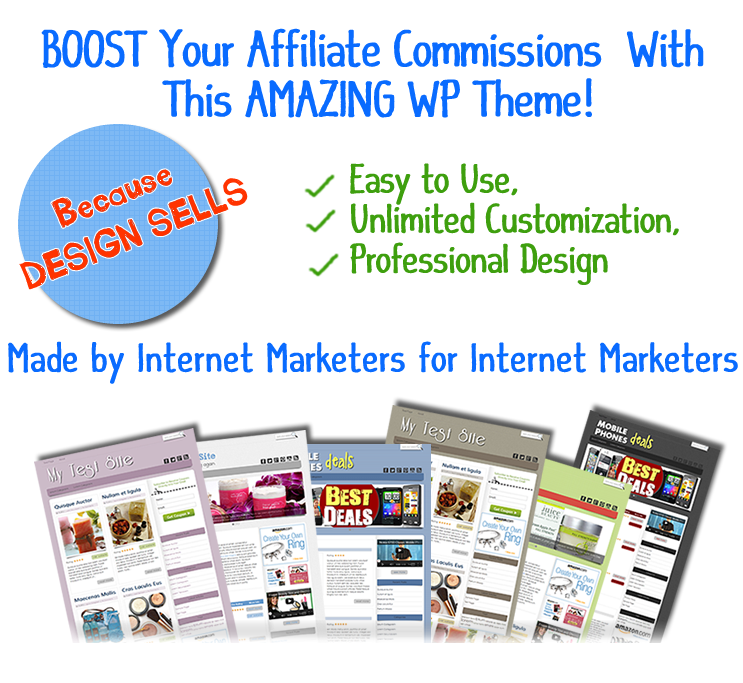 give you The Affiliate WP Theme to boost your affiliate commissions