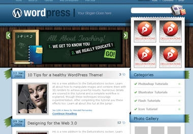 develop and design an attractive website or blog on wordpress for you