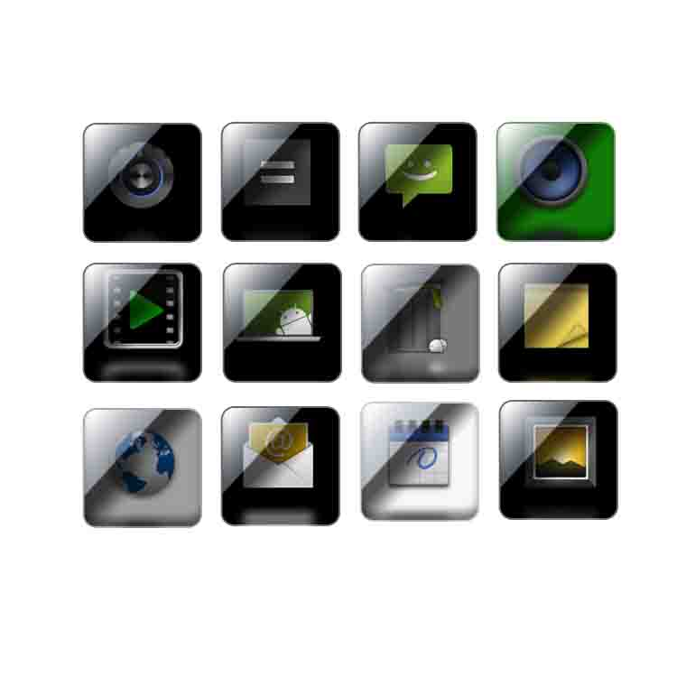 design 5 Glossy icon for your apps or website