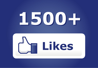 give you more than 1500+ Facebook Likes