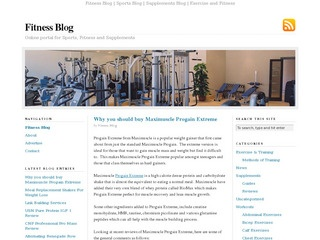 Fitness Blog | Sports Blog | Supplements Blog | Exercise and Fitness