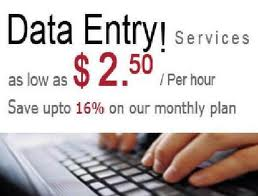 do any data entry work 2 hours