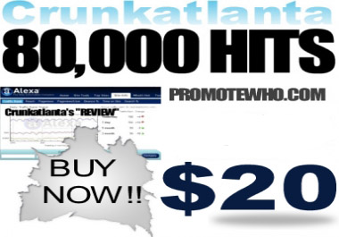 send 80,000 plus visitors to you domain of choice