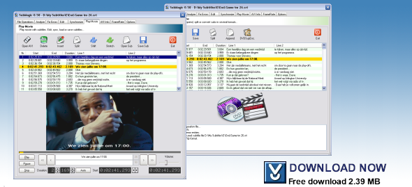 SubMagic is a tool to convert, edit, translate, synchonize or create movie subtitles