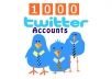sell you ★1000 custom made twitter accounts★