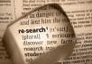 do 2 hours of detailed online research or business research