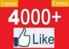 Give You 4000 REAL Facebook Page Likes Within 24-48 hours 100% REAL FANS LIKE ON YOUR FAN-PAGE ONLY