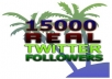 I will send you 15000 REAL Twitter Followers [No Bots] in less than 24 hours@!