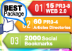 Create 75 PR3-8 seo LlNKWHEEL and 2000 Social Bookmarking Backlinks