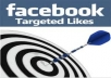 give You, Real Human Verified 1500+ Target Country Facebook likes for your any Fanpage only