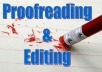 proofread or edit any 1,000-word article of any topic