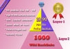 provide Best Link Pyramid Service to Rank on Googles 1st page ✺ 5670+ Backlinks from Unique Domain ✺ PR 9 to 0 ✺ 3 Tiers  and  5 Platforms