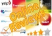 put 2 UN IQUE positive reviews for your product or services