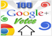 Get You 100+ Real Google+ like/vote/follow/share in your website,blog,Url