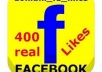 give you 400 Real Facebook Page likes