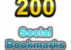 200 High Quality Social BOOKMARKS backlinks to Your Website