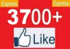 Give You 1000+ REAL Facebook Page Likes  Within 4-12 hours very Fast