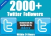 Add 3000+ [Staying] High Quality Real Looking Twitter Followers in 12hour