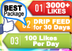 add 3000+ PERMANENT Facebook Likes To Your Fanpage, Drip Feed for 30 days
