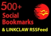 add your link to 500+ Social Bookmarks