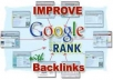 ★★★★create 100 SEO backlinks over 4 of your URLs and ping them all for
