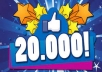Give You 20 000++ REAL Facebook Page Likes  Within 2-3 days very Fast