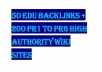 create 50 Edu backlinks and 200 PR1 to PR6 from High Authority Wiki Sites