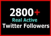 add 2800+ Real Twitter Followers FASTLY in just 1 day