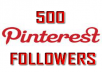 Provide ✔500 Pinterest Followers