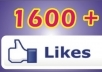 give you 1600+ High Quality Facebook Likes on your website