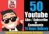 Give You 100+ Real Youtube Like And 10 Comments To Your Video