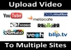 I will do Video Submission to 30 High PR Sites Manually