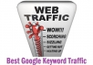 send you *** 3000+ Google Keyword targeted traffic with Guarantee