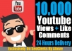 Give 10,000 Real Human Youtube View + 100 Like + 20 Comments To Your Video