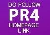 give you a PR4 Home Improvement Related DoFollow Homepage Link