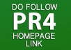 give you a PR4 Insurance Related DoFollow Homepage Link