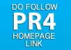 give you a PR4 SEO Site Related DoFollow Homepage Link