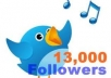 give you 13000  real twitter followers 