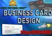 design a Professional Business CARD Or Logo Within Few Hours