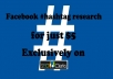 do facebook HASHTAG research with report