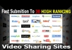 Provide 30 manual video submission for you